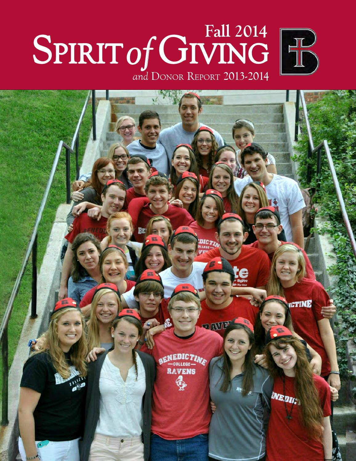 Sprit of giving fall 2014 by benedictine college issuu Siena medical clinic garden city kansas