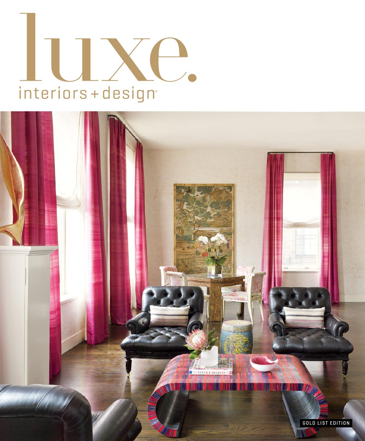 Luxe Magazine Winter 2015 National By Sandow Media LLC