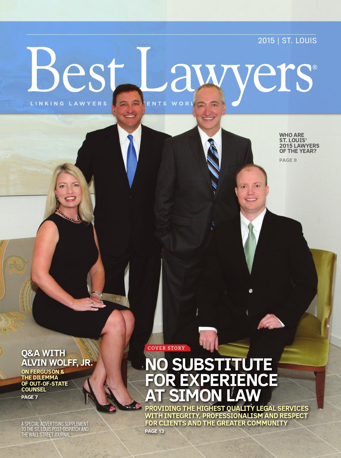 Best Lawyers In St Louis 2015 By Best Lawyers Issuu