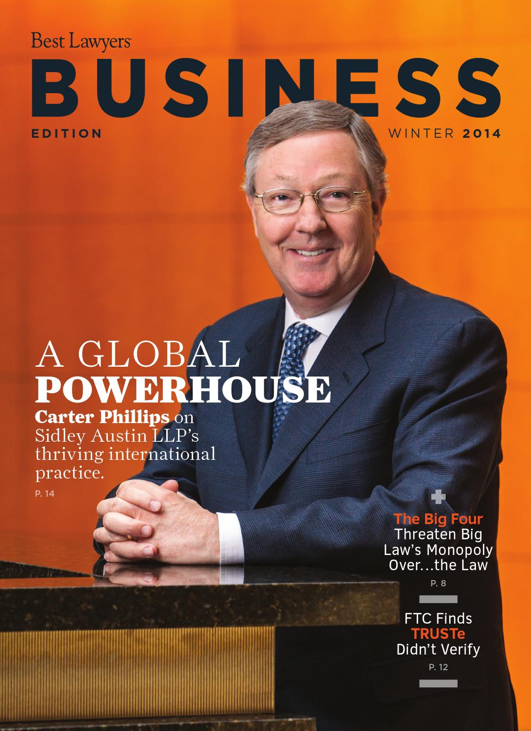 Best Lawyers Winter Business Edition 2014 By Best Lawyers