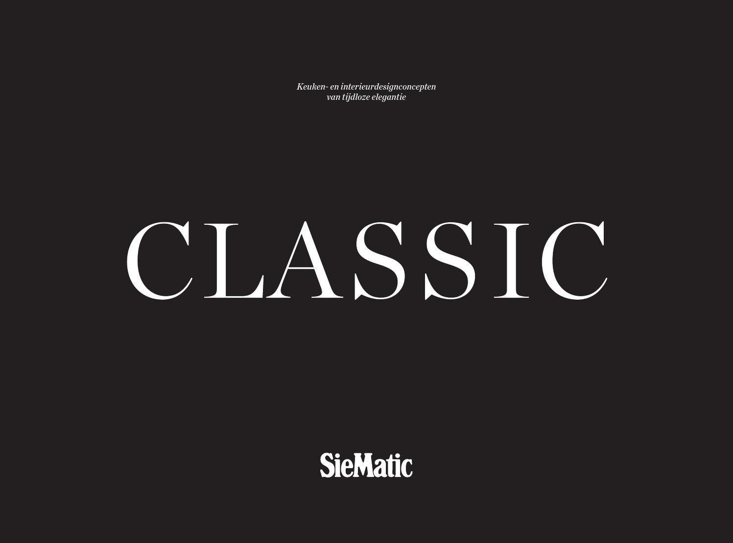 Welkom in de ,klassieke' wereld van siematic! by habitos.be bvba ...