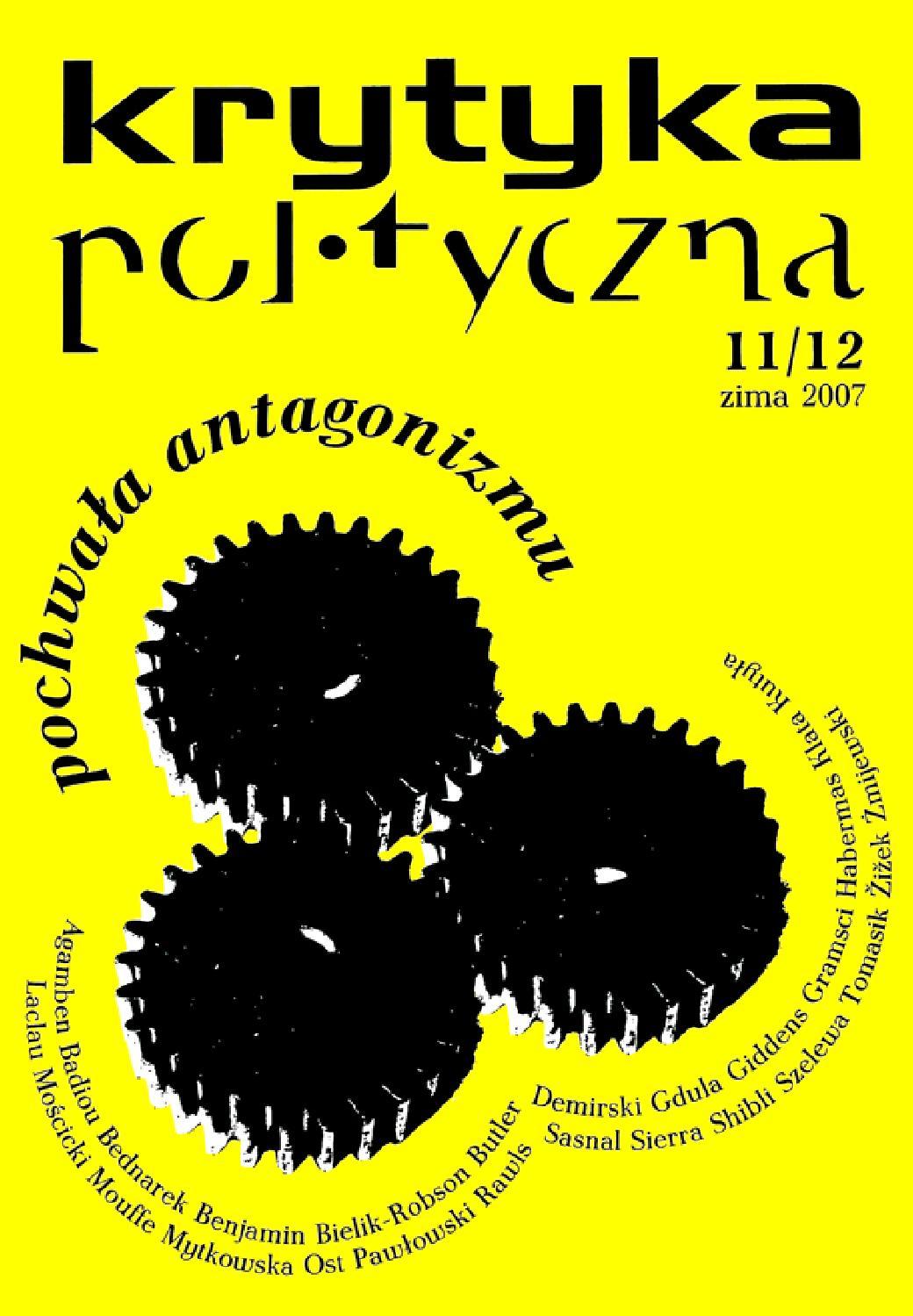 ^ Praktyka eoretyczna 2(8)/2013 - eologie emancypacyjne by ...