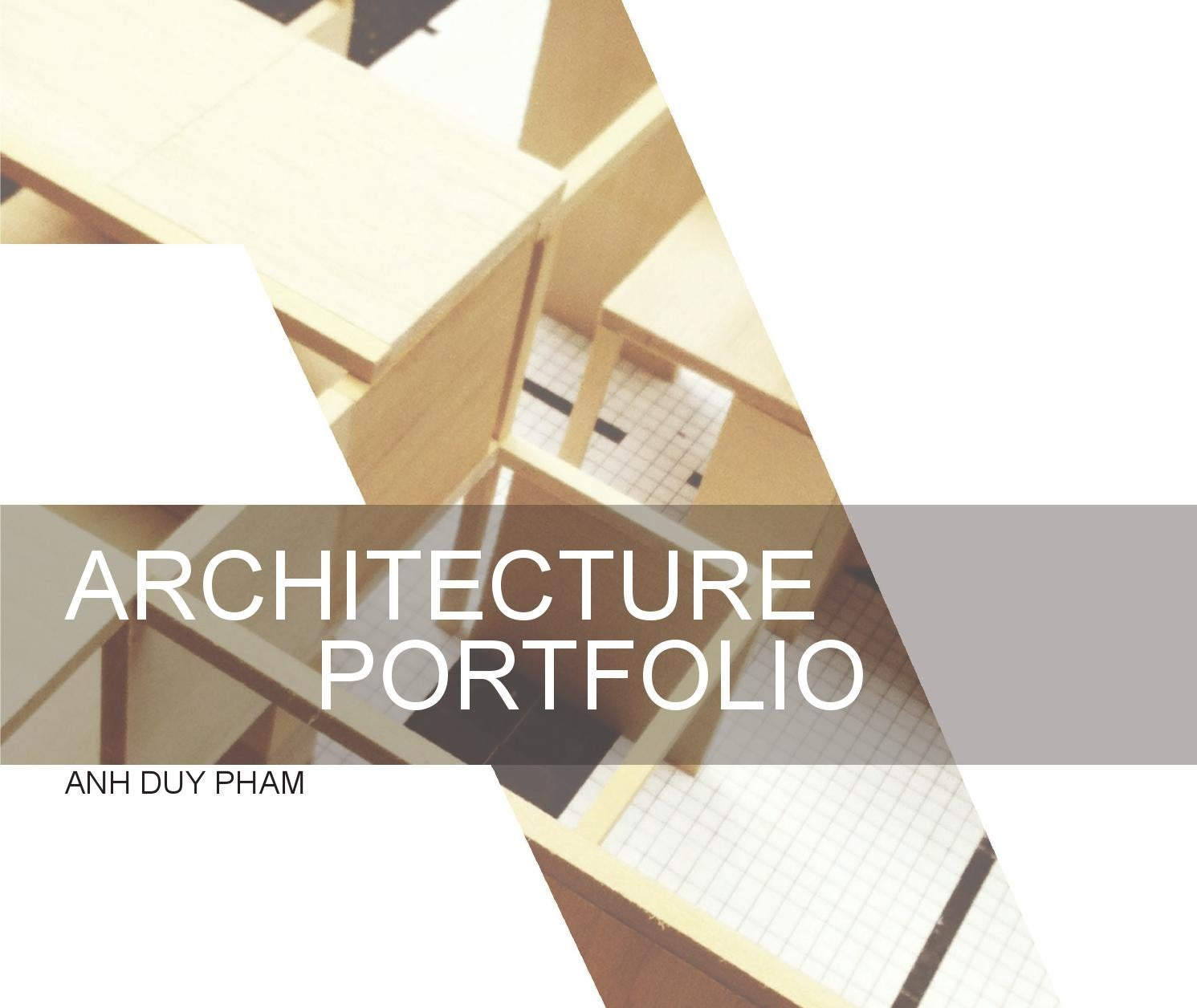 SCAD Undergraduate Architecture Portfolio By Anh Pham Issuu