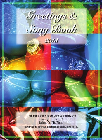 Greetings and Songbook 2013