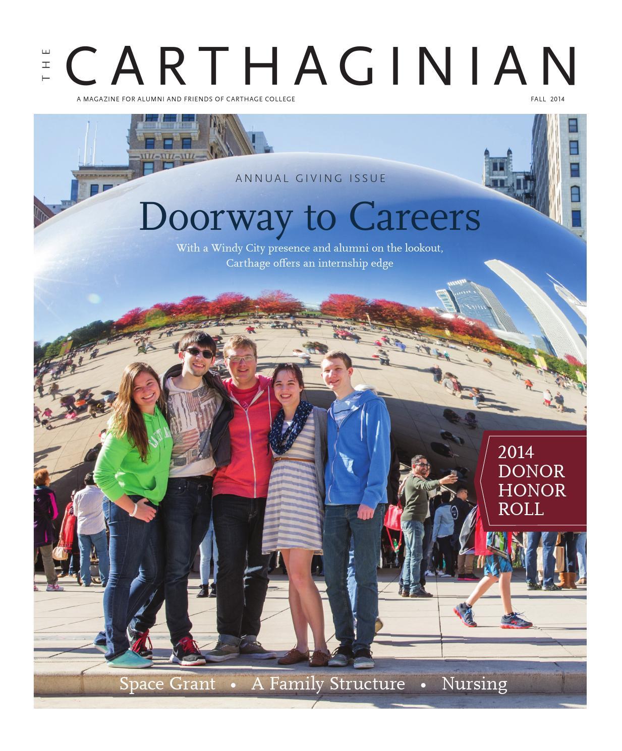 Carthaginian Fall 2014 By Carthage College