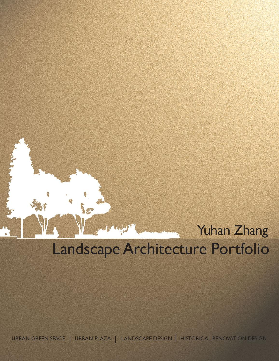 landscape architecture portfolio by yuhan zhang