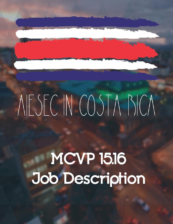um hr leadership team by university of miami hr communications aiesec in mcvp 15 16 job description