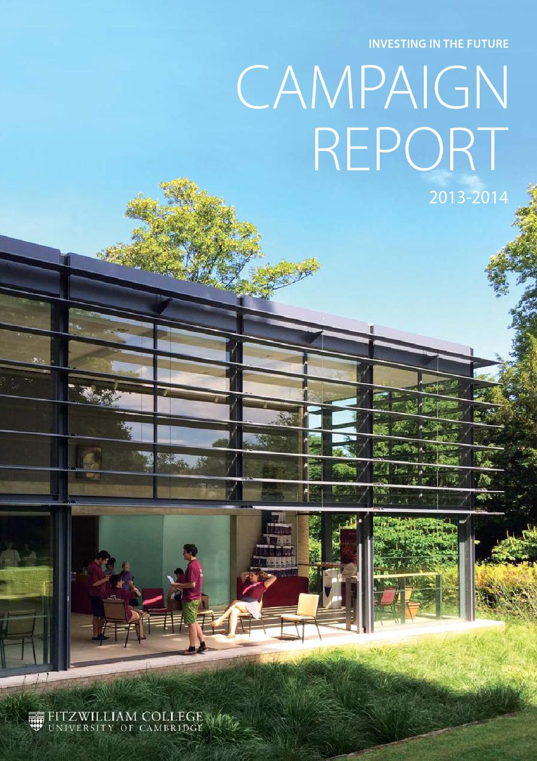 Campaign Report by Fitzwilliam College - issuu