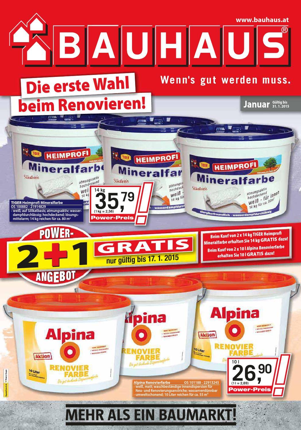 Bauhaus angebote 18 31januar2015 by issuu - Bauhaus regensburg angebote ...