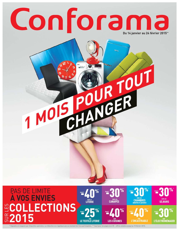 Conforama catalogue 14janvier 24fevrier2015 by - Conforama catalogue chambre ...