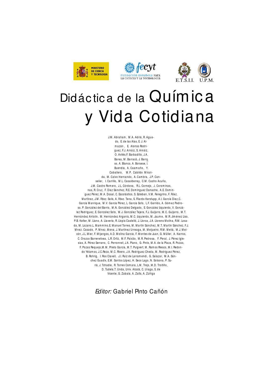 Quimicavidacotidiana by magdalena issuu for Libro la quimica y la cocina pdf