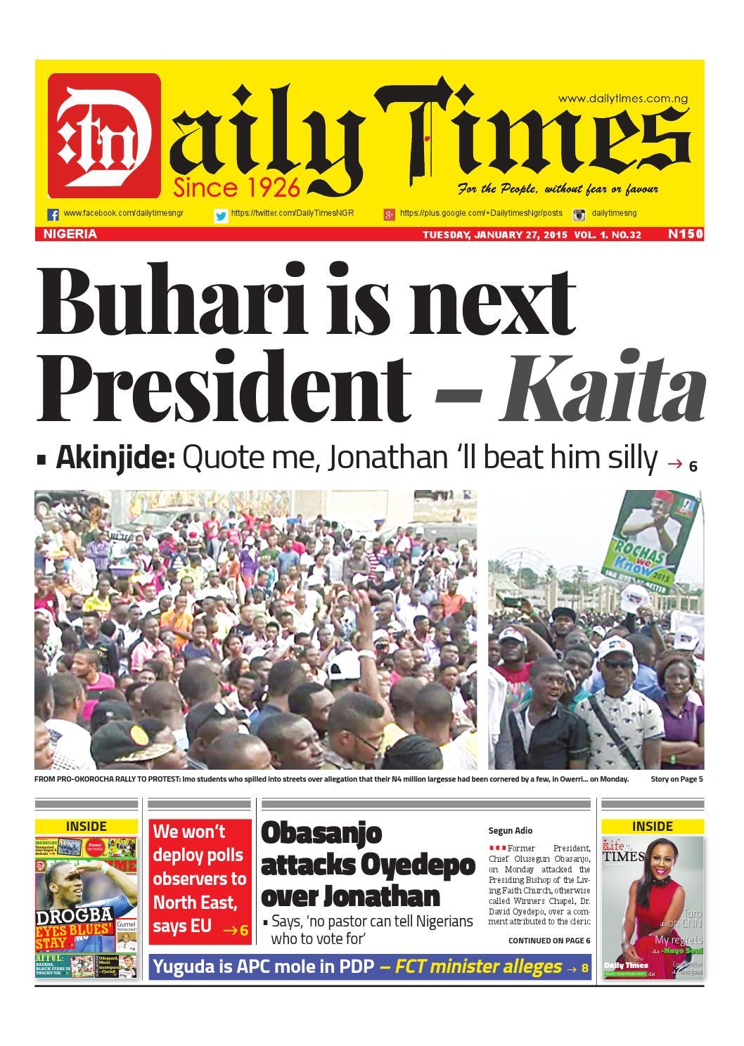 Latest Nigeria News - Naija News Feed Today Tuesday, 29