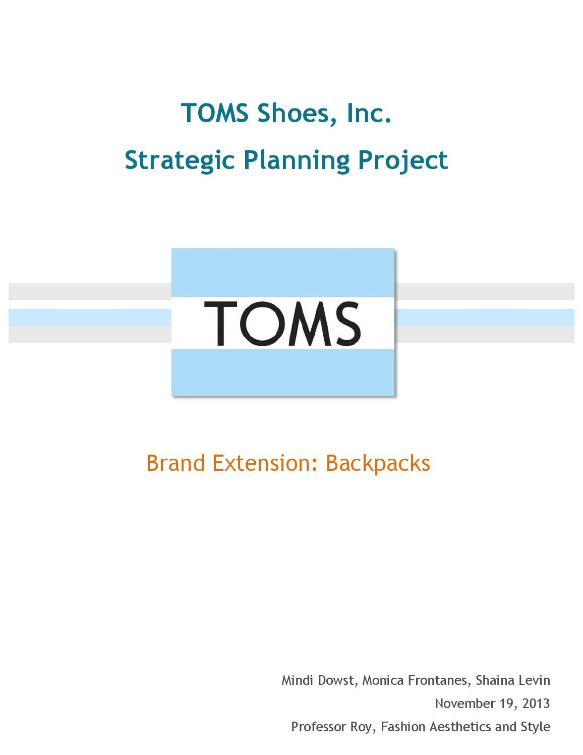 toms brand extension report by mindidowst issuu