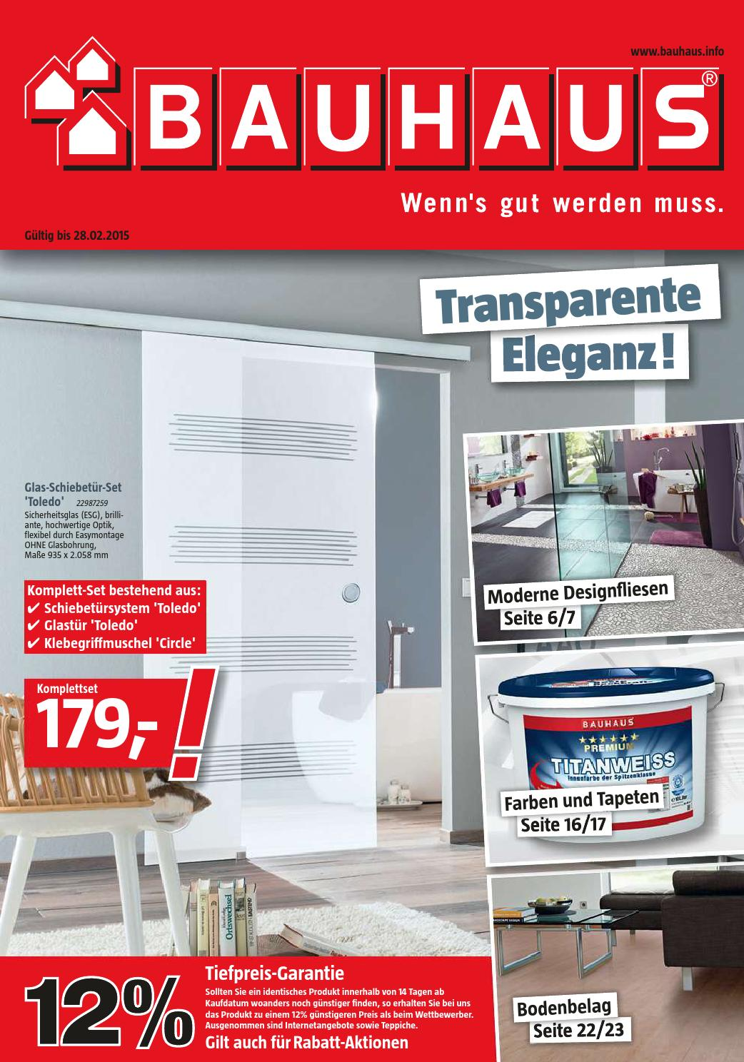 Bauhaus angebote 2 28februar2015 by issuu for Tapeten bauhaus