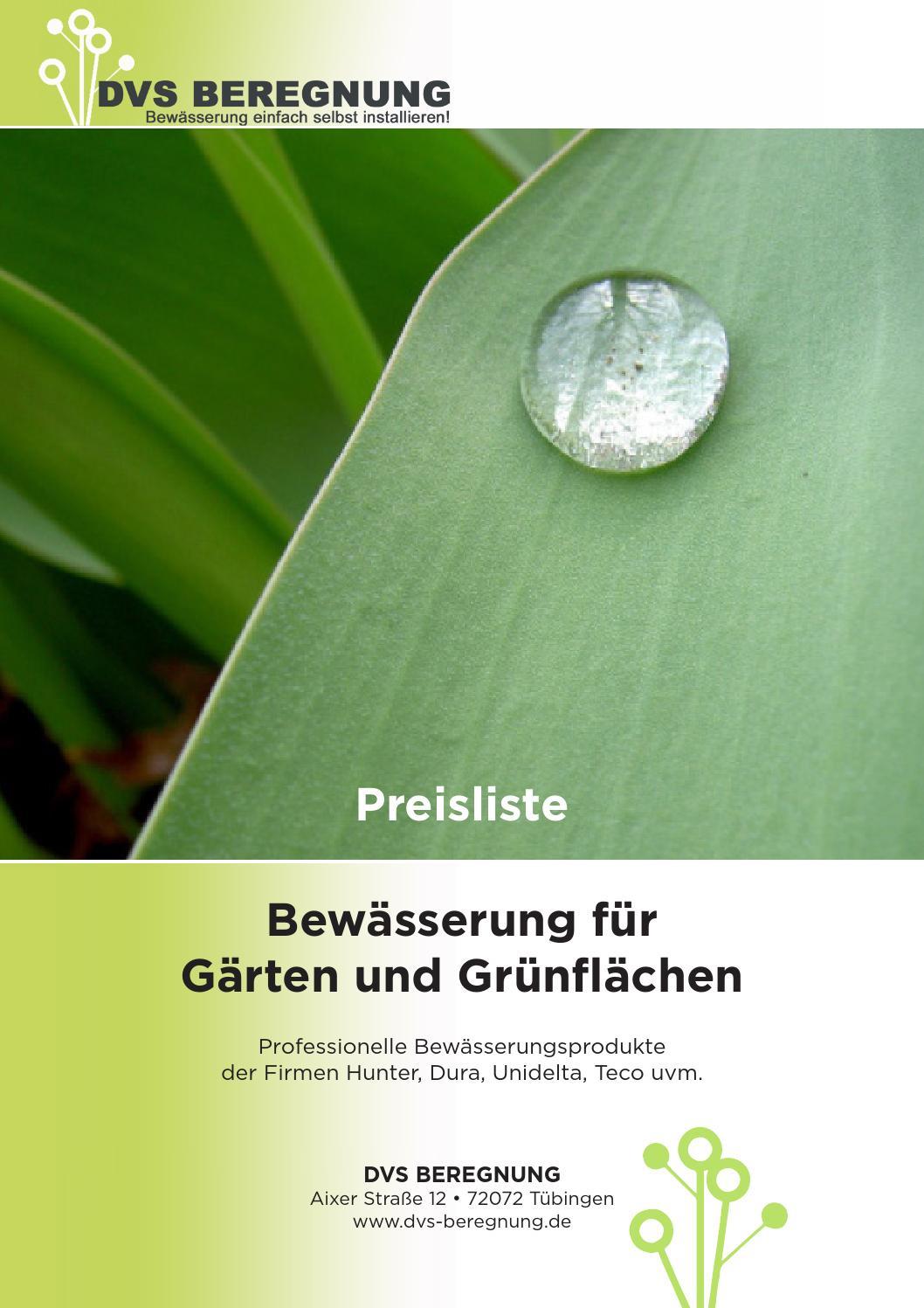 Preisliste Bewässerung für Gärten und Grünflächen by DVS ...