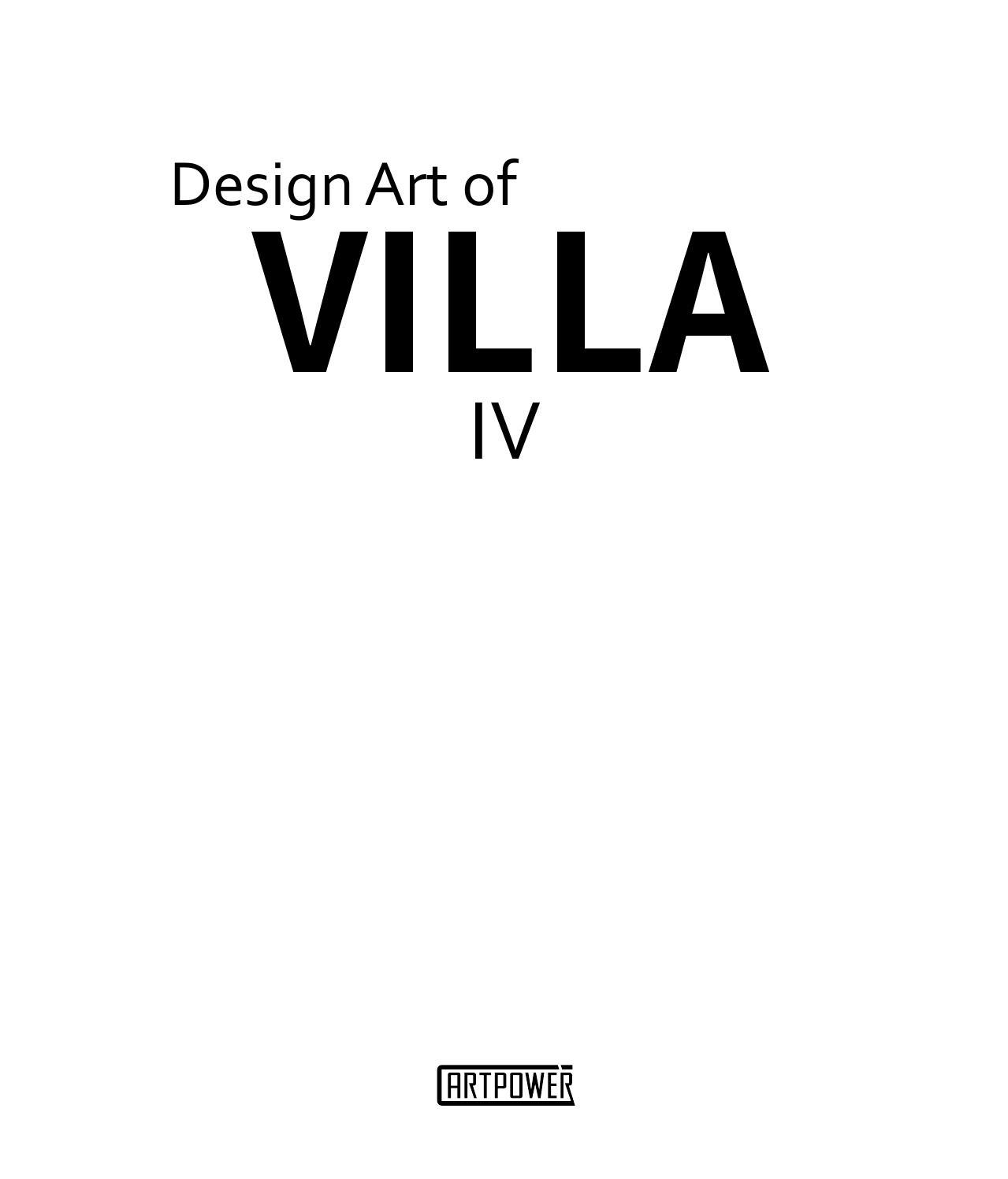 Design Art of Villa IV, , Aihong, Li, Very Good, 2015-10-28,