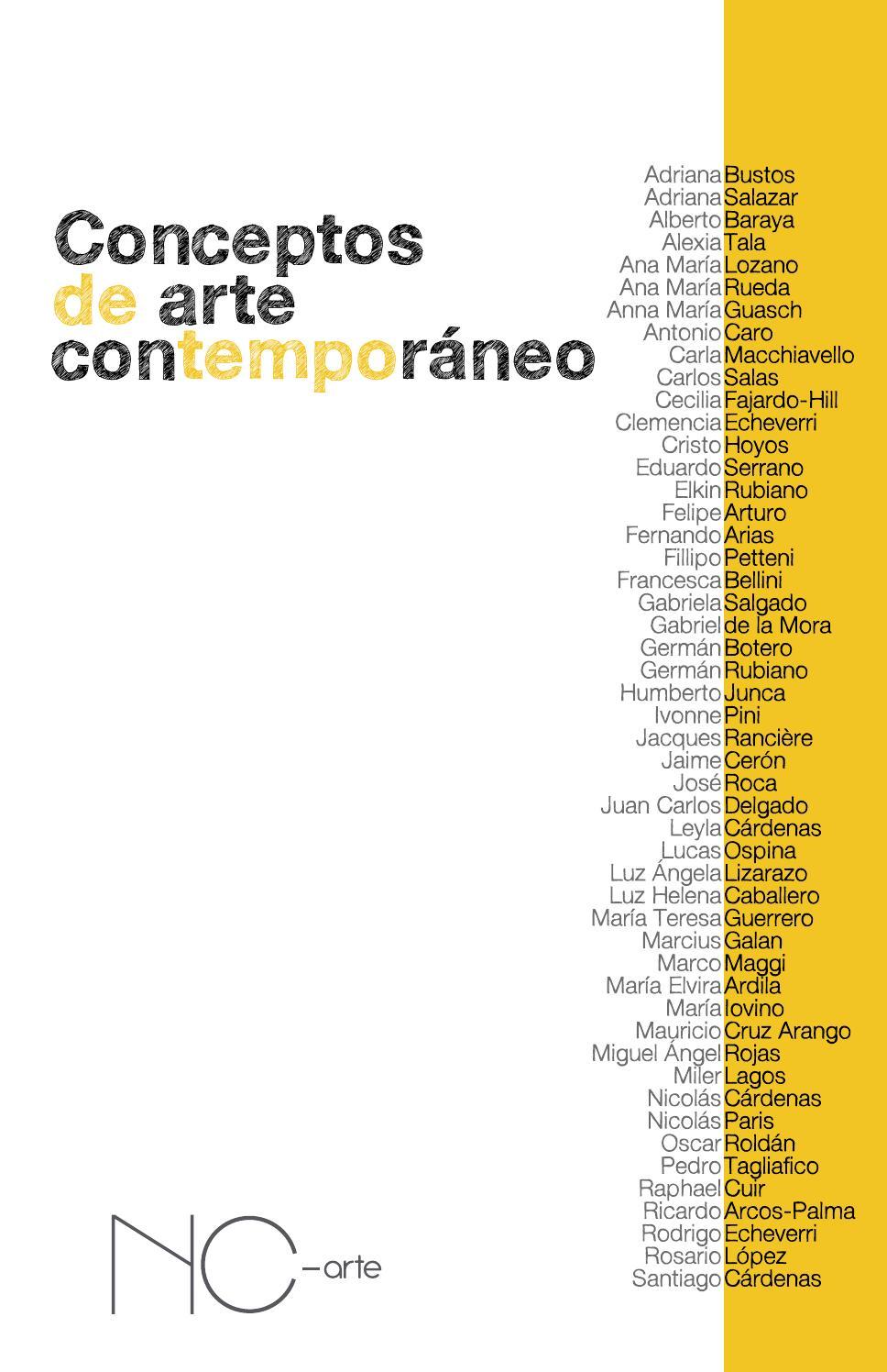 conceptos de arte contempor neo by nc arte issuu
