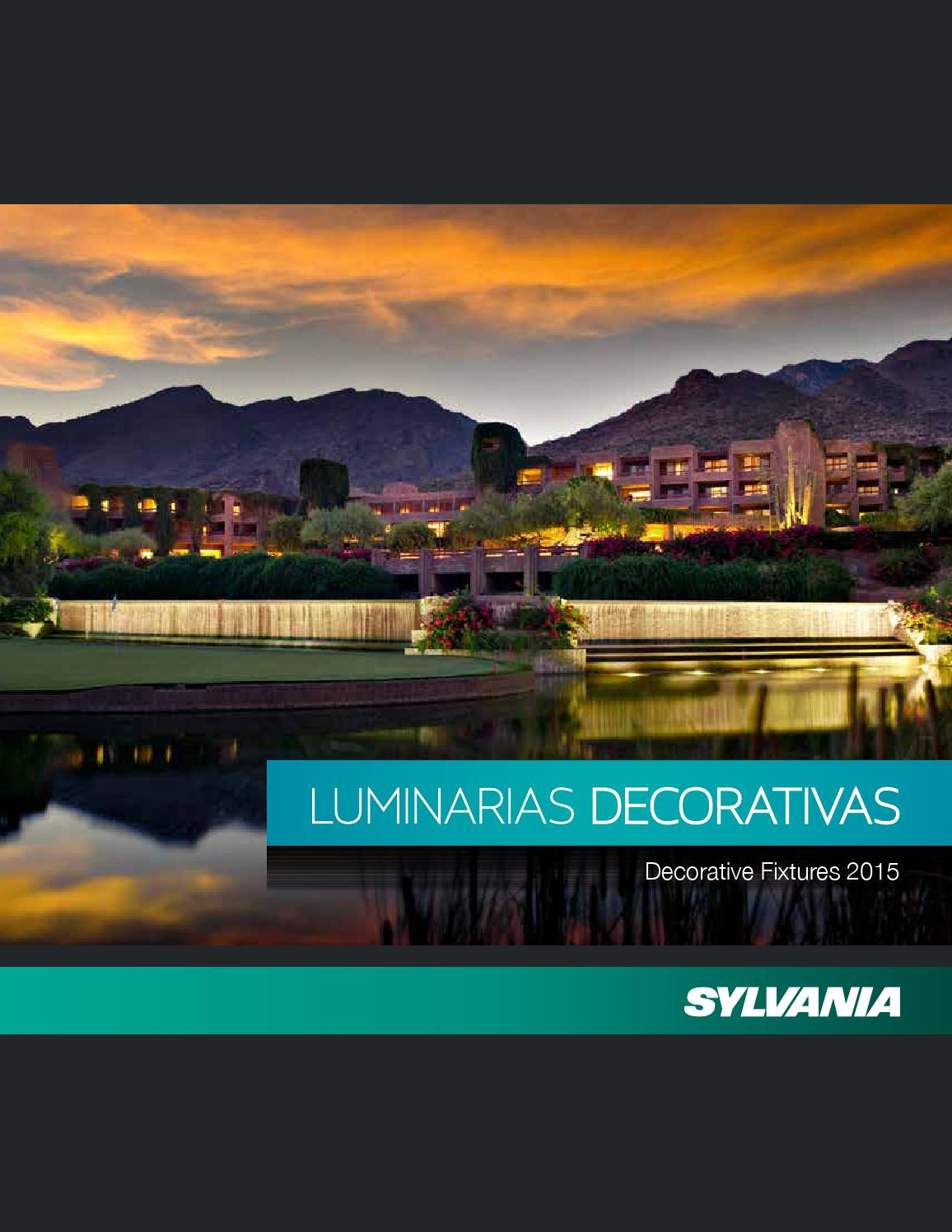 Cat logo luminarias decorativas 2015 by havells sylvania for Catalogo osram led