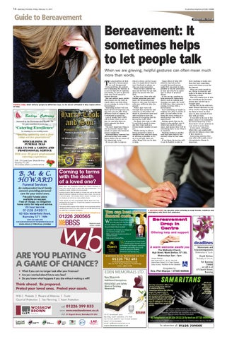 Front Cover Image for Guide to Bereavement [Feature] - 13 February 2015
