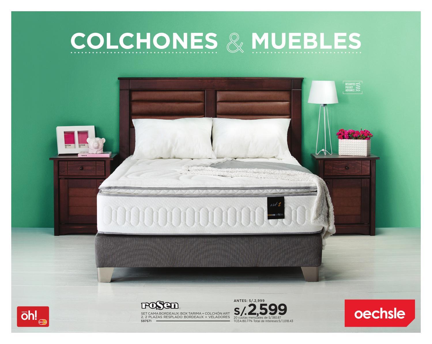 Colchones muebles by oechsle issuu for Cabeceras de cama con tarimas