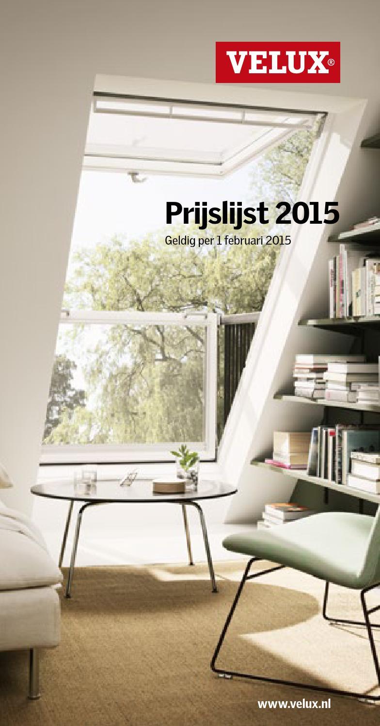 Velux mini prijslijst 2015 spread by velux nederland b v for Listino velux 2015