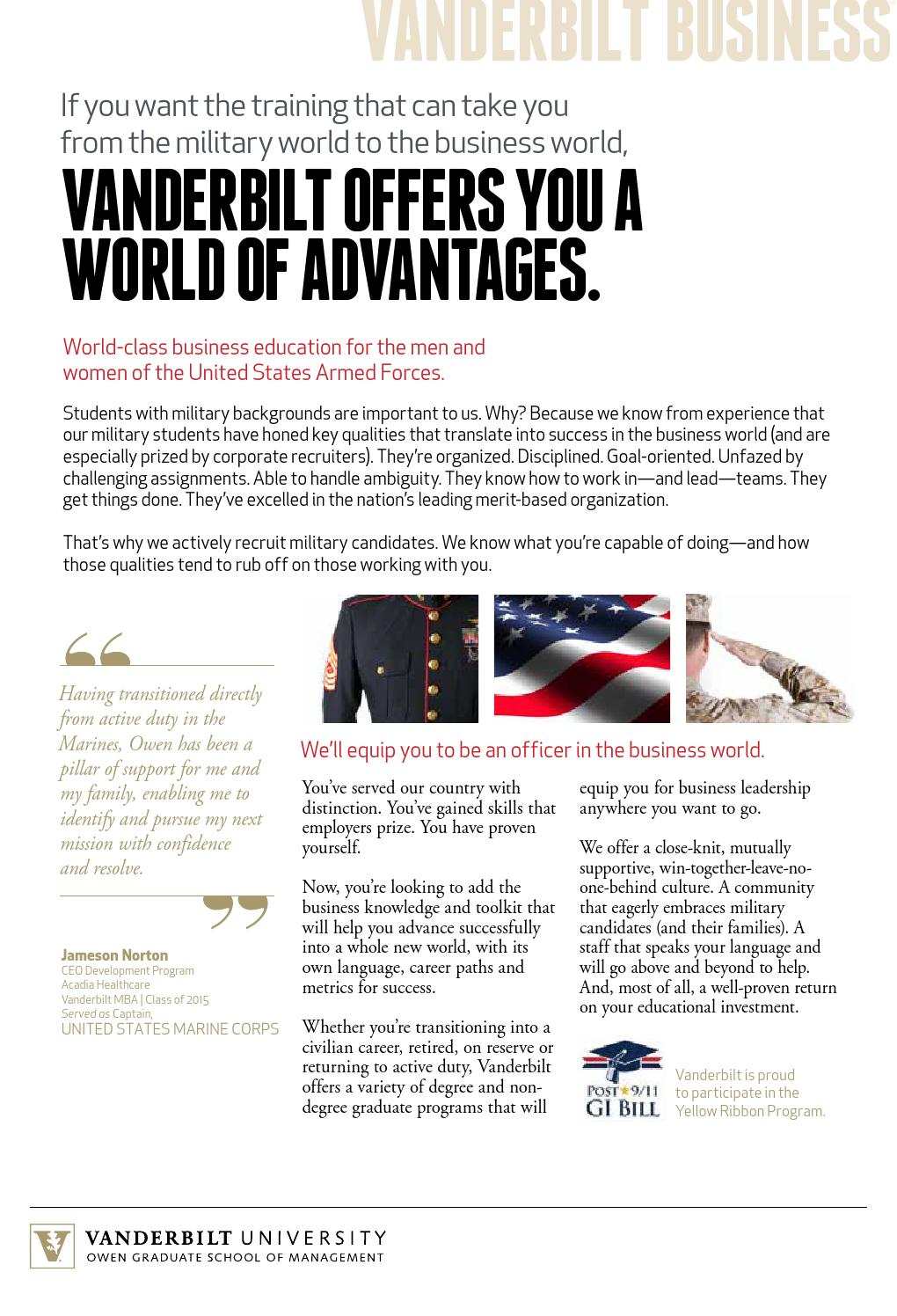 military brochure by vanderbilt owen graduate school of management military brochure by vanderbilt owen graduate school of management issuu