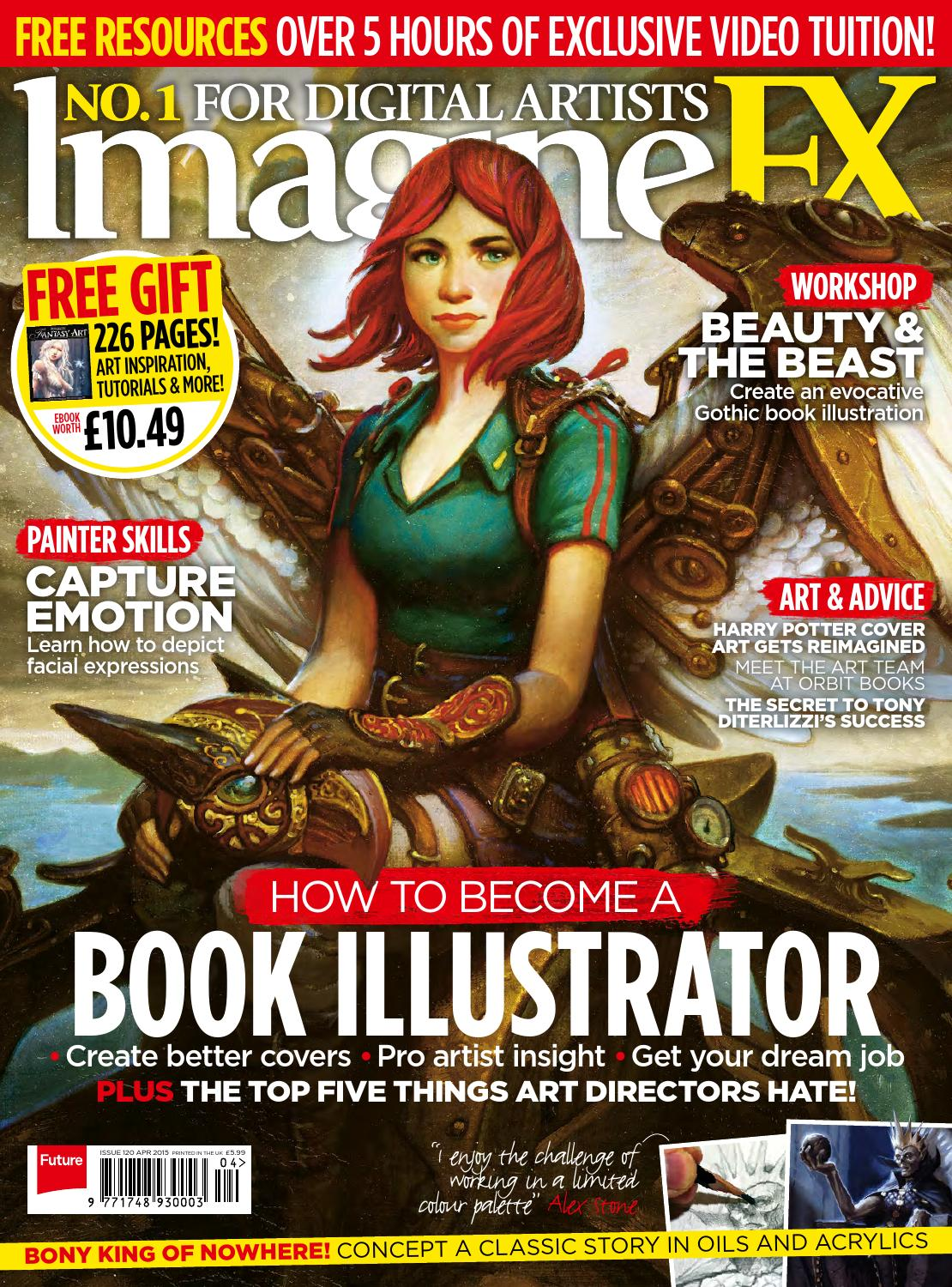 How To Make A Book Cover In Illustrator : Imaginefx sampler by future plc issuu