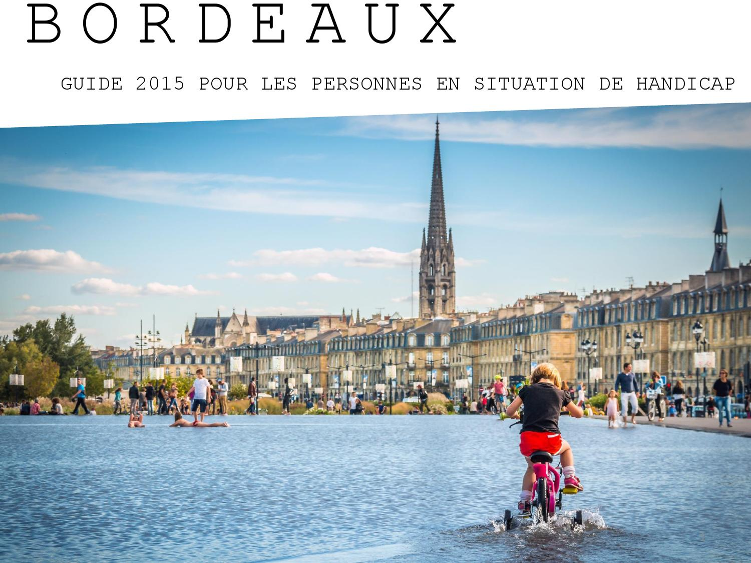 Bordeaux guide handicap 2015 by office de tourisme de bordeaux m tropole issuu - Office du tourisme de bordeaux ...