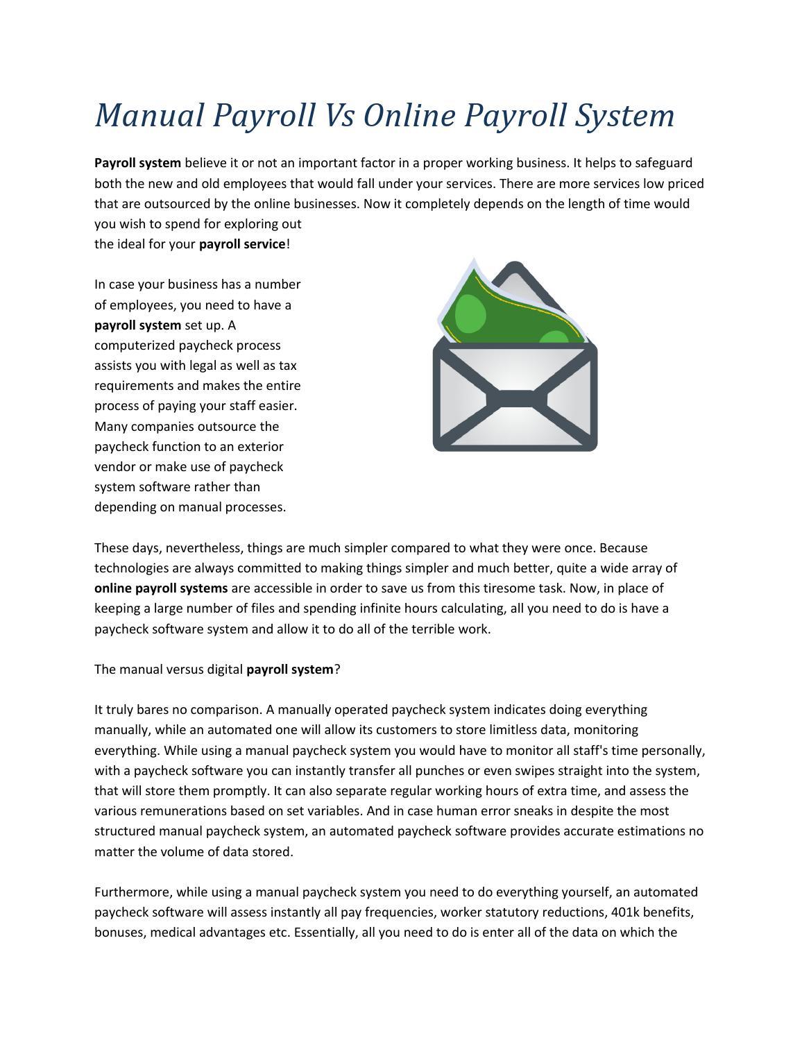 Internet Payroll System