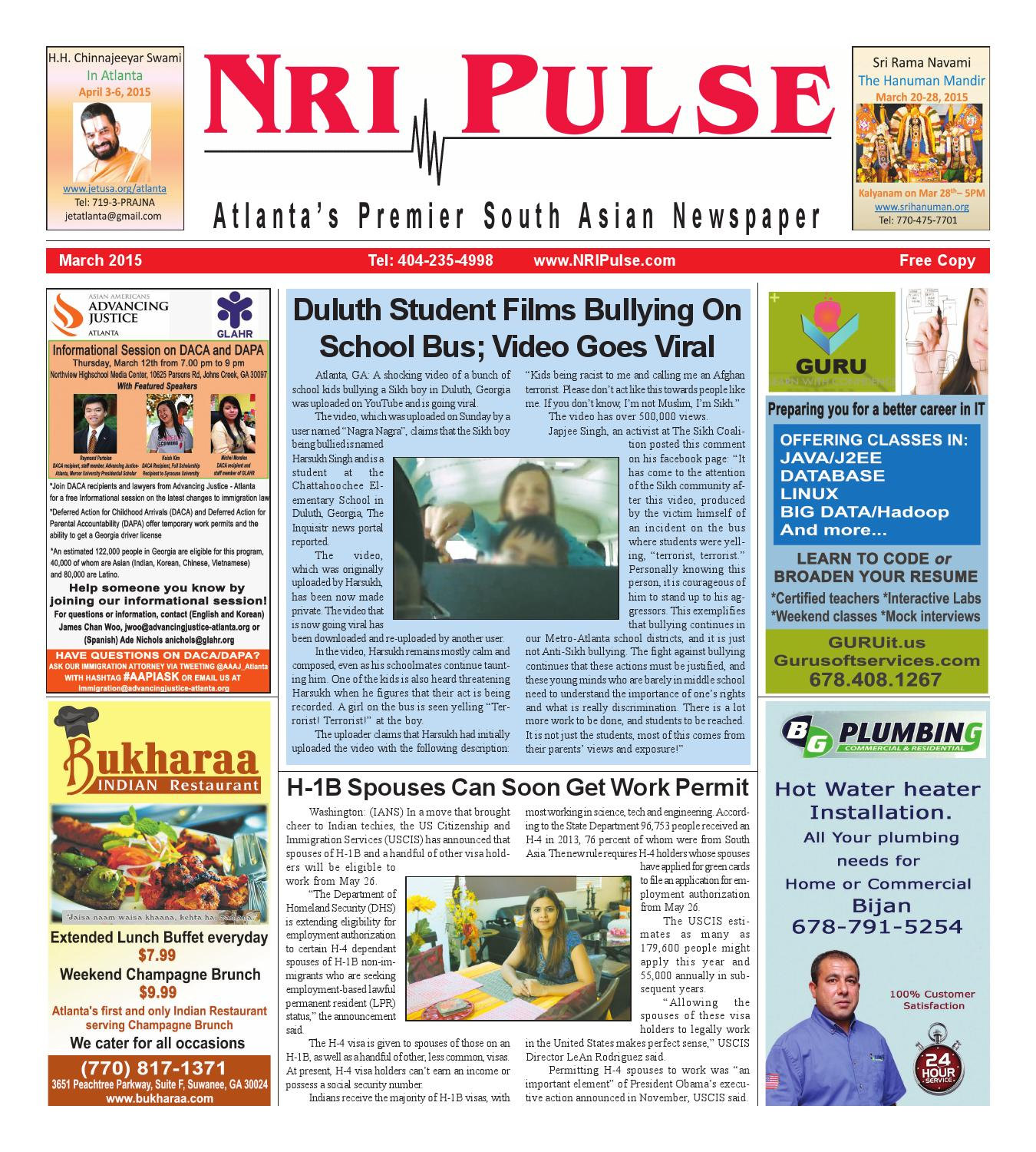Campus Connect College Sports Entertainment Viral News: NRI Pulse March 2015 Print Issue By NRI Pulse