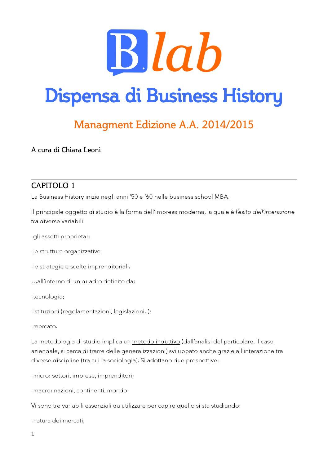 Storia economica dispensa managment by bocconi for Studio di funzione a due variabili