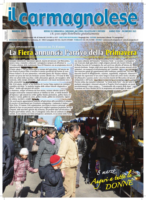 Il Carmagnolese - Marzo 2015 by Redazione Il Carmagnolese - issuu