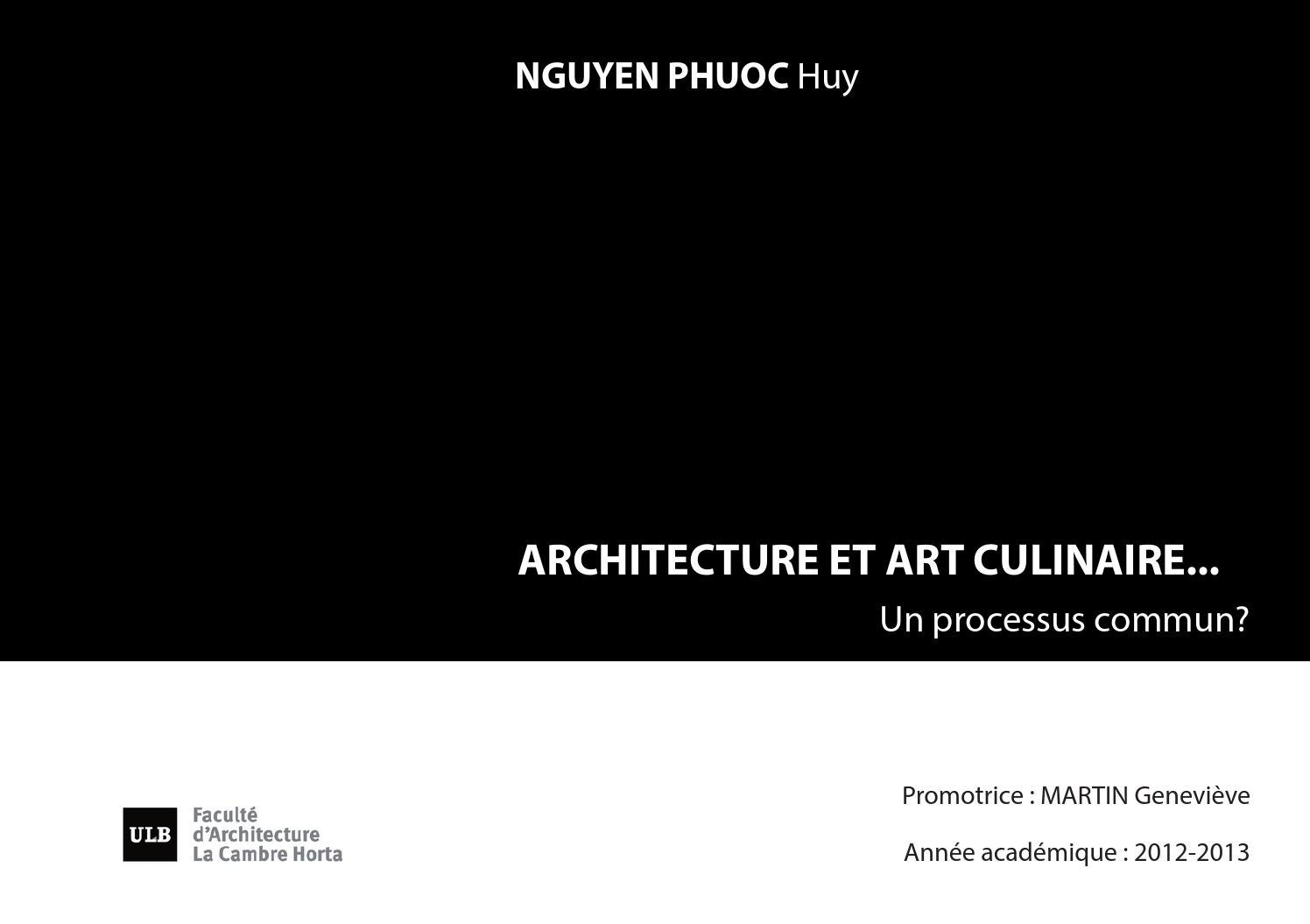 architecture et art culinaire un processus commun by wil