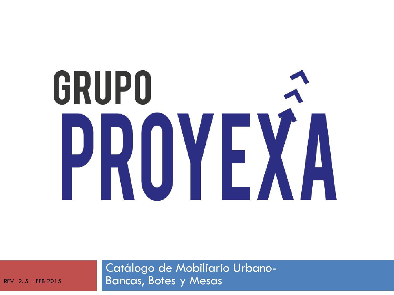 Cat Logo Mobiliario Urbano Bancas Botes Basurero Y Mesas