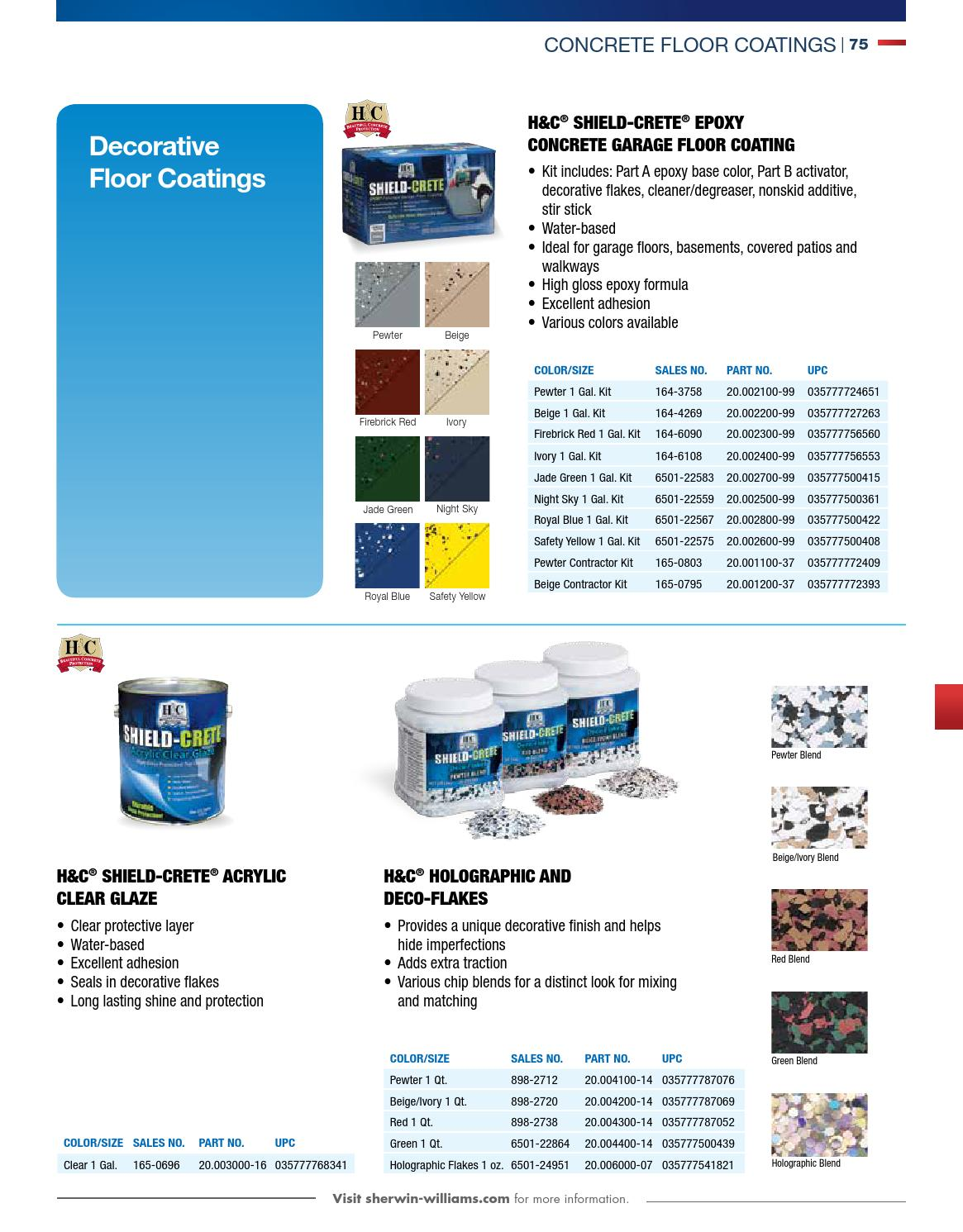 Concrete Catalog 2015 By Sherwin Williams Page 81 Issuu