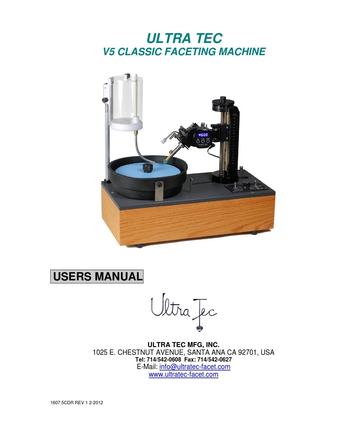 ultra tec faceting machine