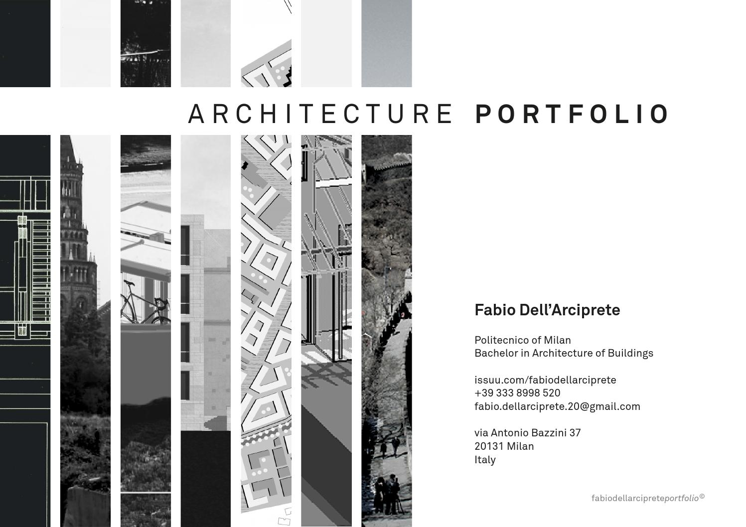 Architecture Portfolio by Fabio Dell'Arciprete - issuu