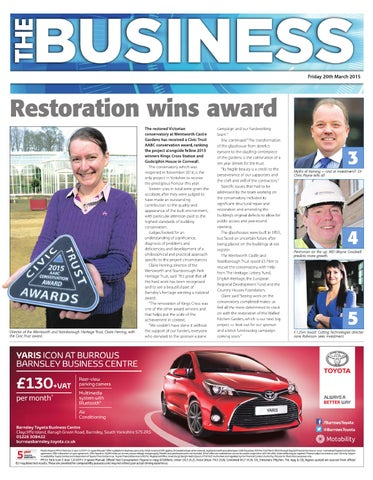 Front Cover Image for Business Supplement - 20 March 2015