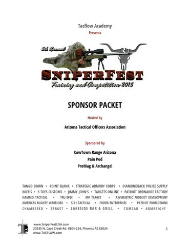 2015 SniperFest Sponsor Packet