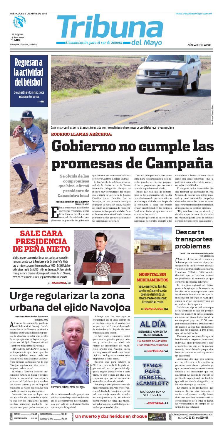 08 de Abril 2015 by elinformadordelmayo - issuu