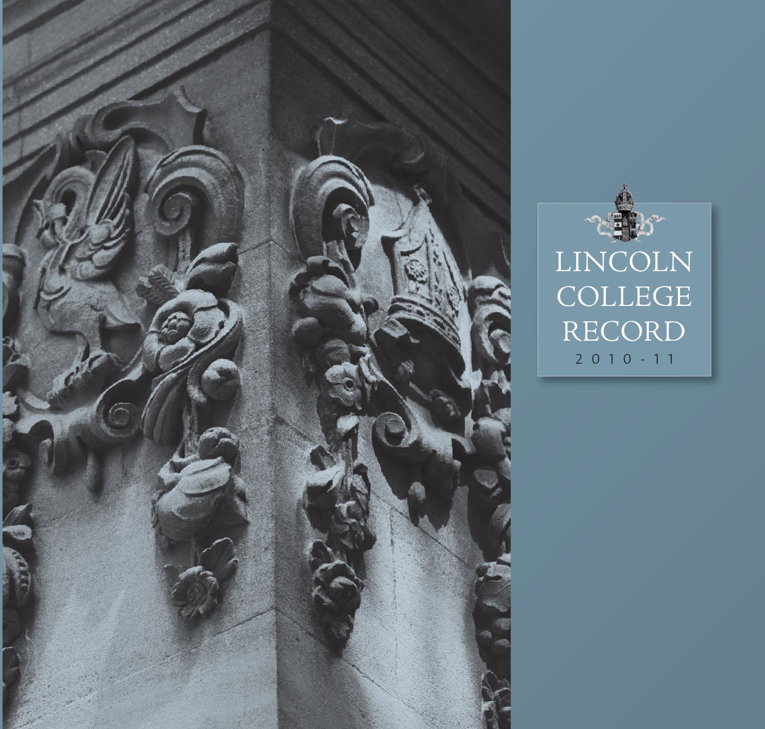 Lincoln record        final by Lincoln College   issuu