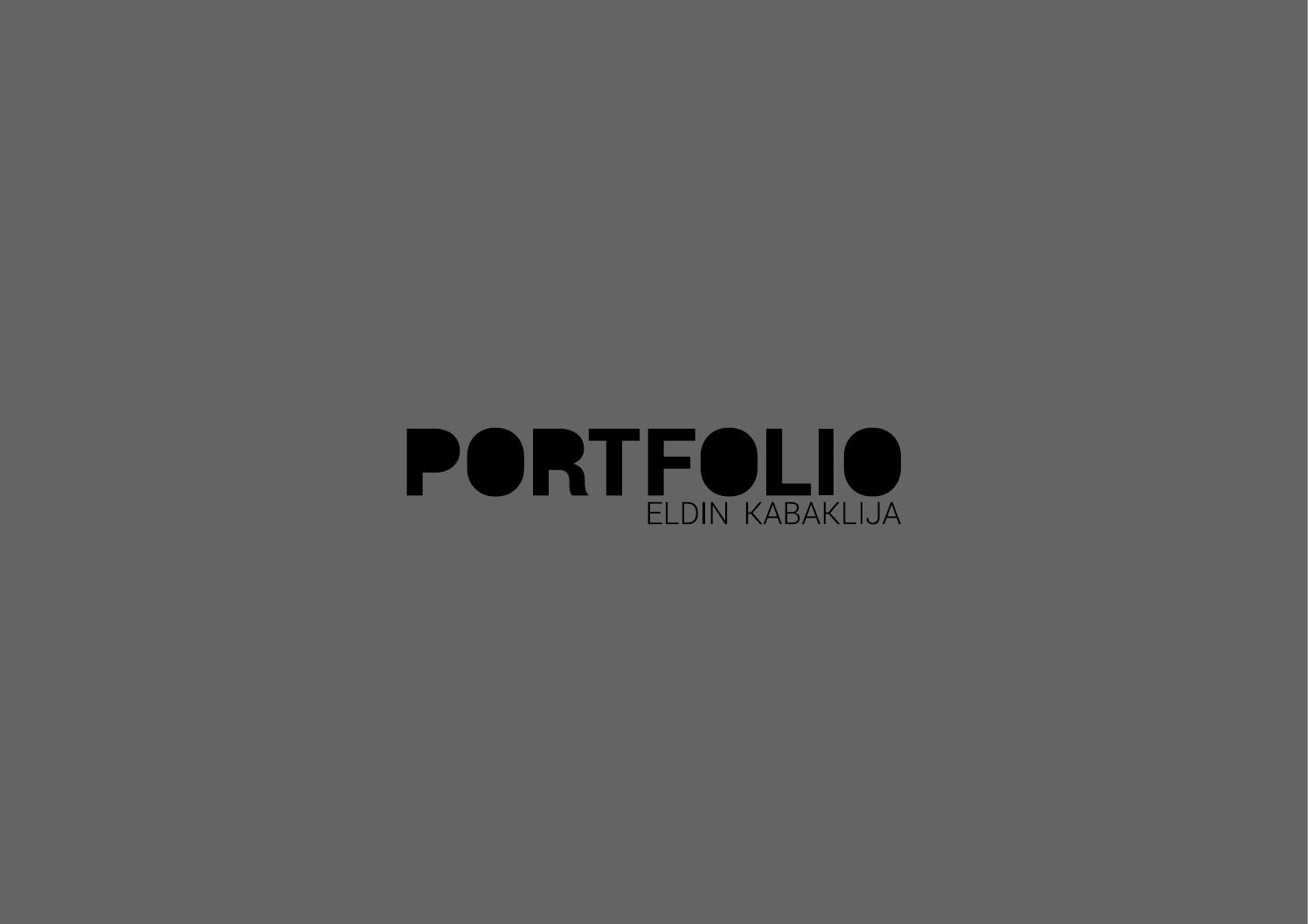 Architektur portfolio eldin kabaklija by eldin for Portfolio architektur