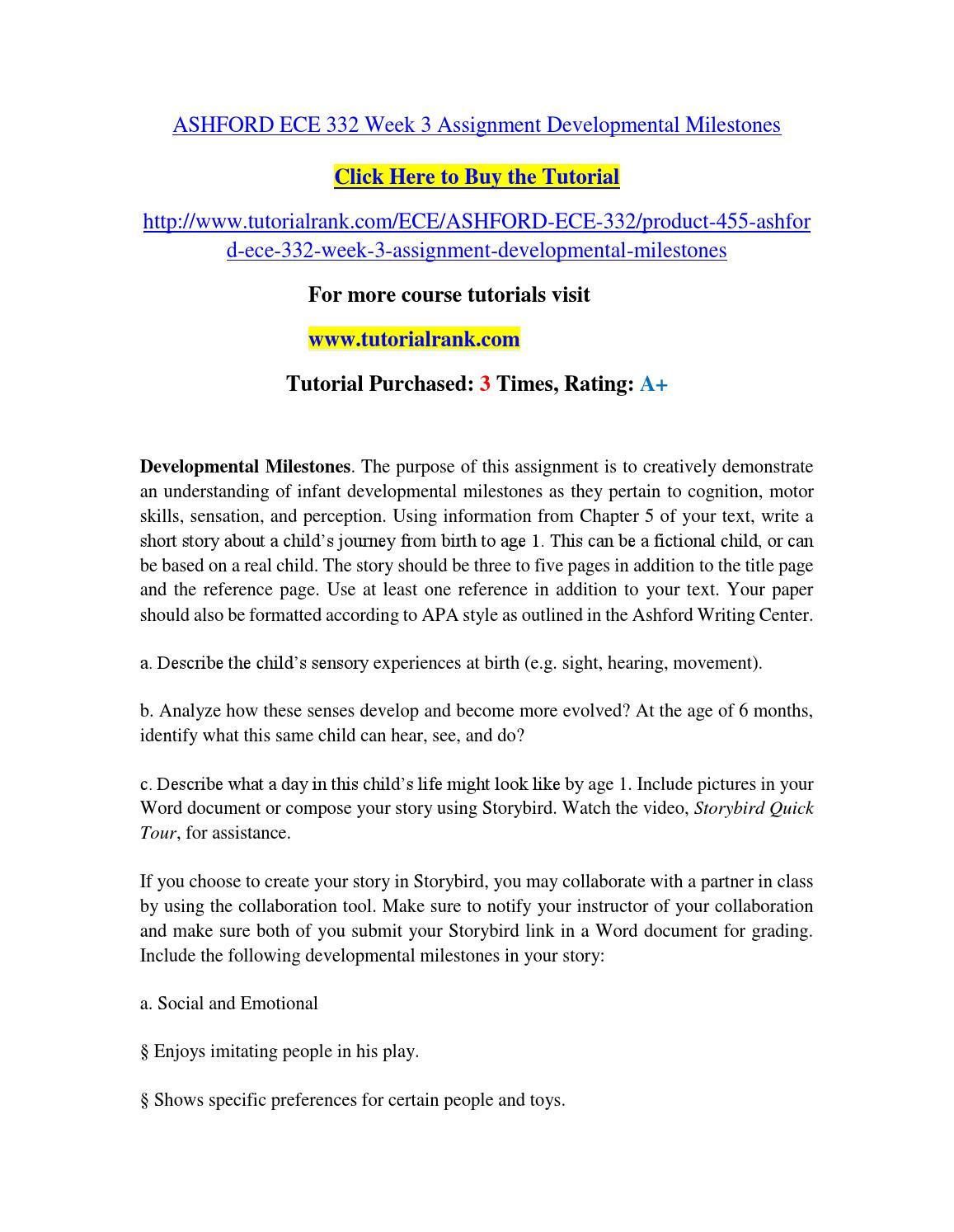 Ece 630 Entire Course Ashford University Assignments