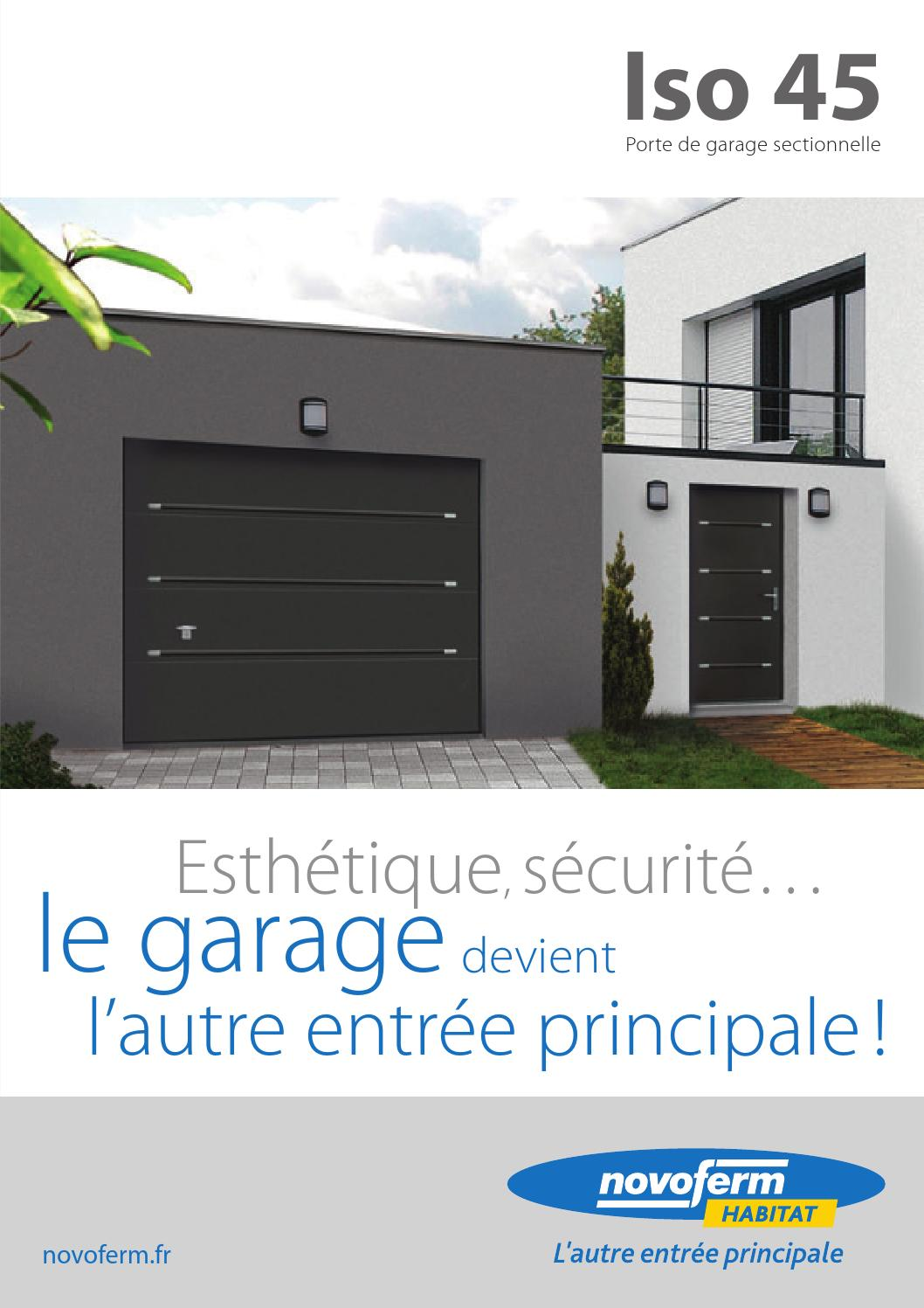 porte de garage sectionnelle iso 45 by uwl wwp