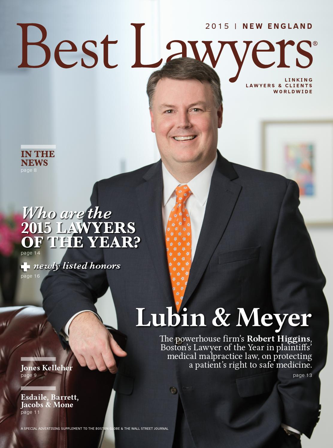 Best Lawyers In New England 2015 By Best Lawyers Issuu