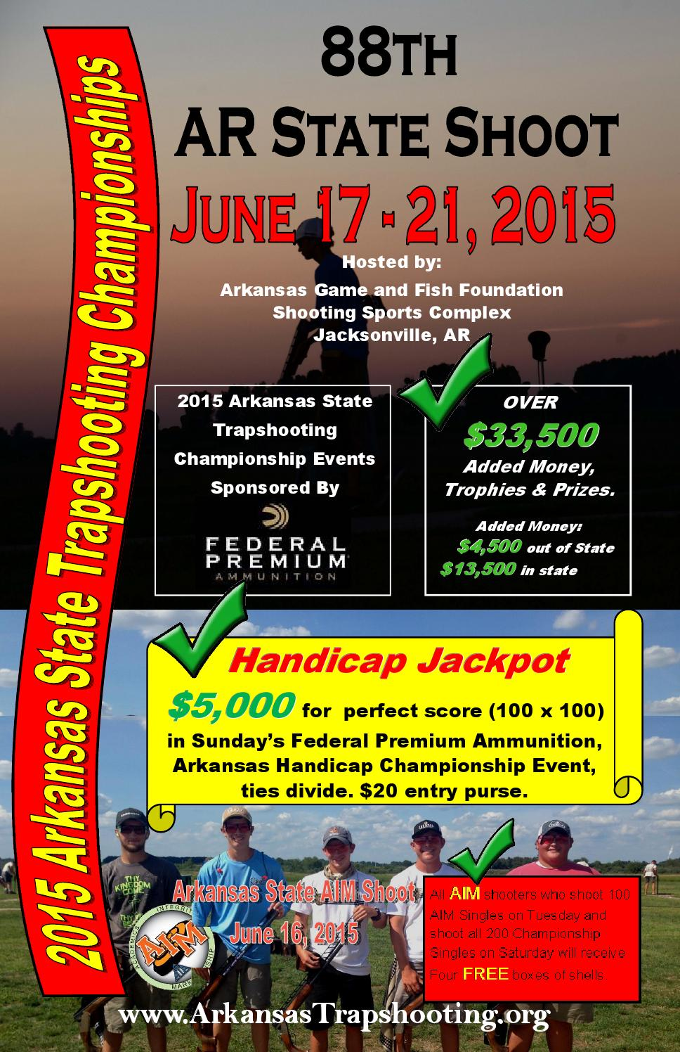 2015 arkansas state trapshooting championships june 17 21 for Arkansas game and fish forecast