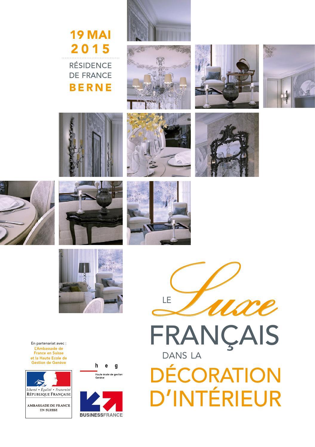 Le luxe fran ais dans la d coration d 39 int rieur by for Interieur francais