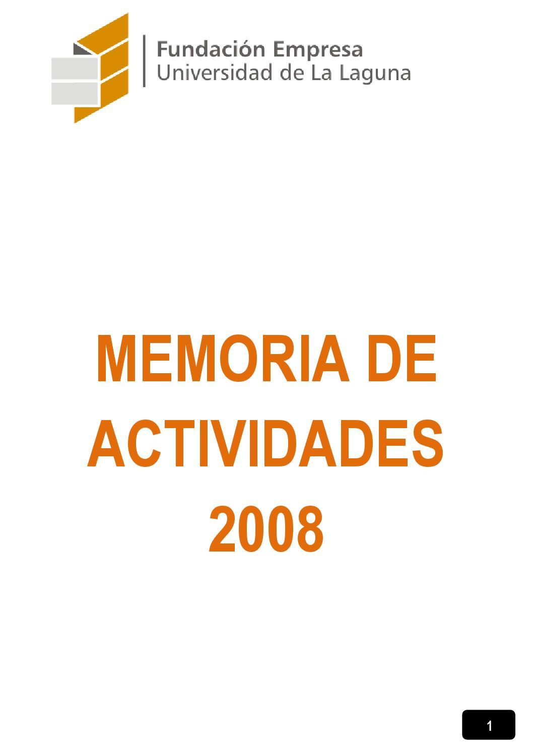 Memoria de actividades 2008 fundaci n empresa for Memoria empresa