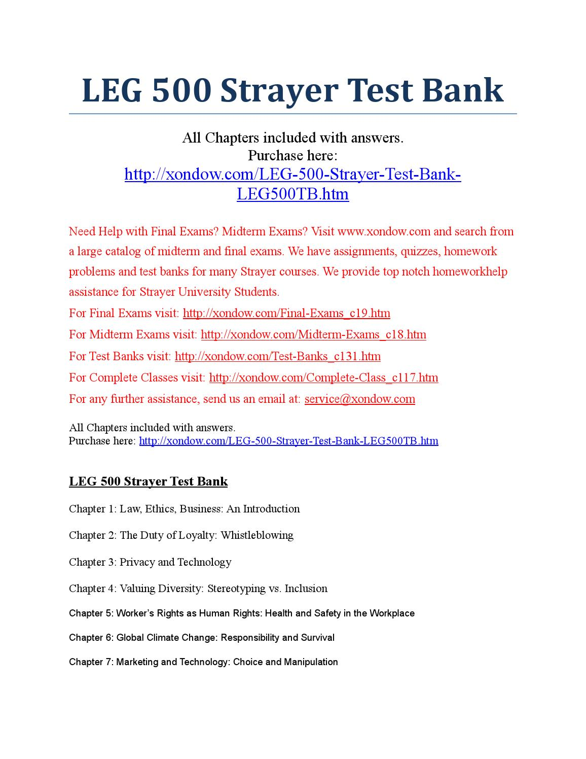 Leg500 exam