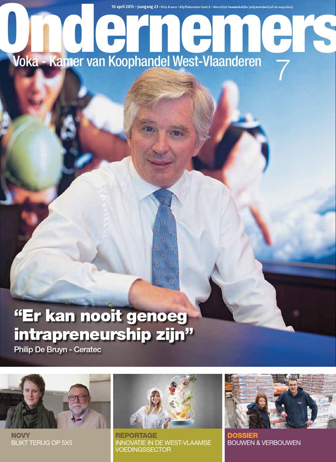 Ondernemers 7 2015 by bart vandaele issuu - De breuyn mobel ...